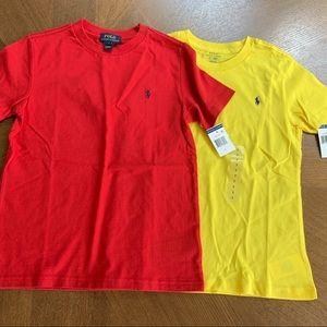Polo Ralph Lauren Boys T-shirts sz 7 NWT